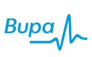 Bupa logo in light blue
