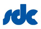 SDC logo in blue
