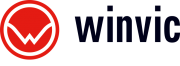 Winvic logo in black and red
