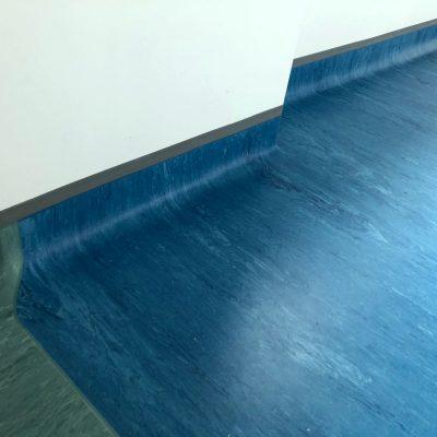 Blue vinyl flooring